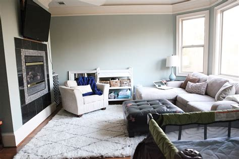 Sittin In Room by New Paint In Our Master Bedroom Navy Gray And White
