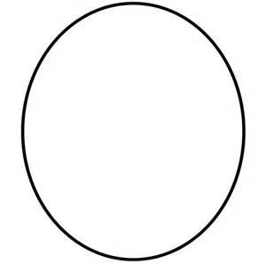 oval shaped shape like a egg