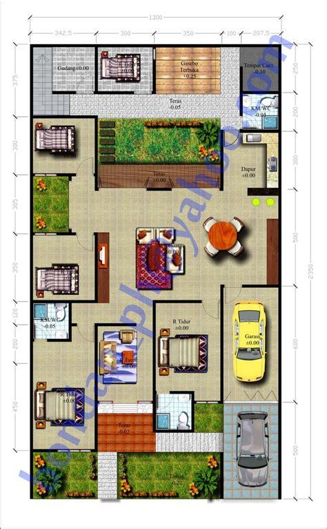 desain rumah mewah  lantai  kamar desain rumah modern designplansectionstructure
