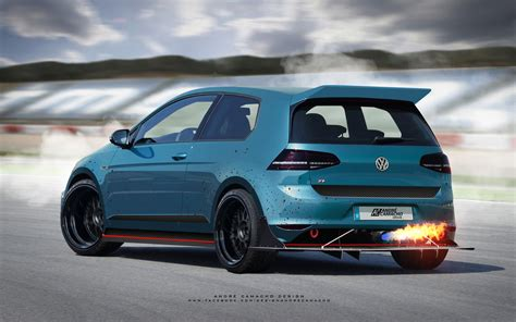 volkswagen golf custom artstation volkswagen golf r custom andr 201 camacho design