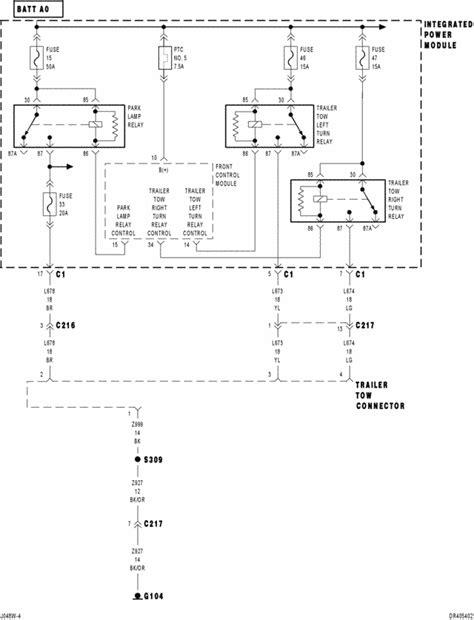 troubleshooting trailer lights turn signal 2004 dodge ram hemi wiring diagram efcaviation com