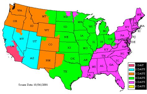 usa map ups pelican parts comparison of available shipping options
