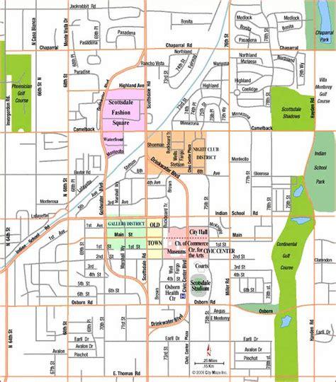 us map scottsdale arizona road map of scottsdale arizona aaccessmaps