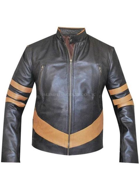 Jaket Wolverine Brown origins hugh jackman wolverine motorcycle brown jacket