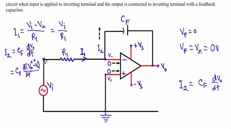 rc integrator circuit using operational lifier op integrator circuit w subtitles