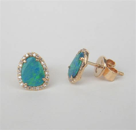 october birthstone opal diamonds custom opal and earrings kloiber jewelers
