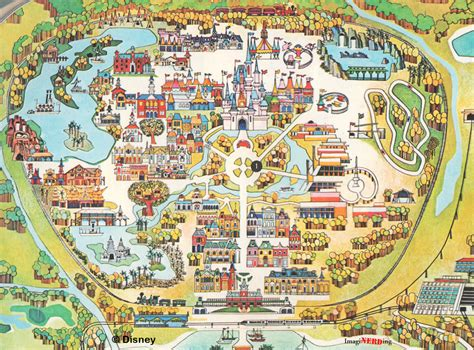 disney world map free large images