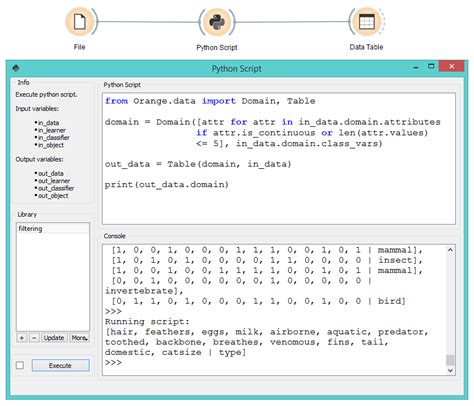 python script orange visual programming 3 documentation