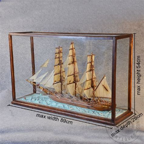 model boat glass cases antique ship model display tea clipper boat in glass case
