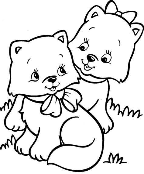 coloring pages with dogs and cats cat and coloring for cats pages pictures of
