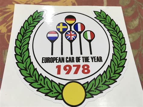 Car Year Sticker by European Car Of The Year Sticker Rennlist Porsche