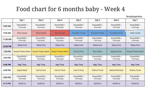 meal pattern for 1 year old indian food chart for 6 months baby being happy mom