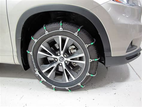 toyota highlander titan chain cable snow tire chains ladder pattern steel rollers  pair
