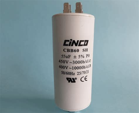 motor running capacitor cbb60a cinco capacitor china ac capacitors factory
