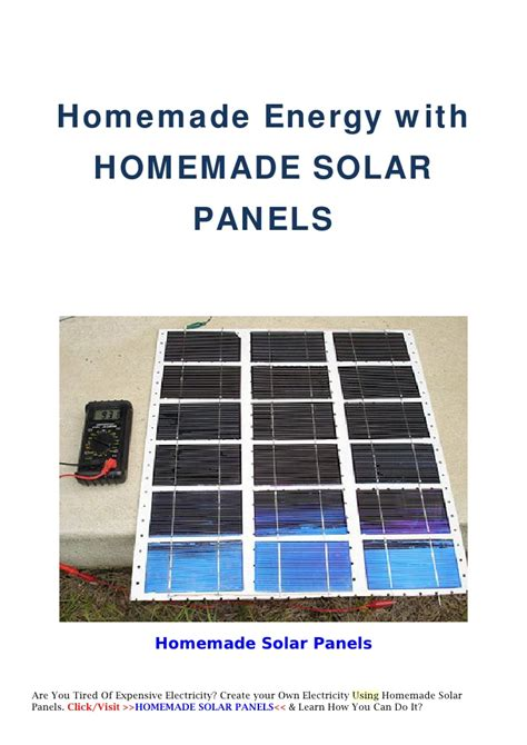 how do you make solar panels at home energy with solar panels