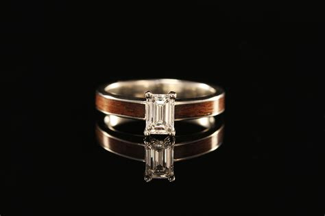 unique wooden wedding bands for engagement rings