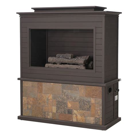 Sunjoy Fireplace by Sunjoy 63 In Tahoe Steel Fireplace 110505001 The Home Depot