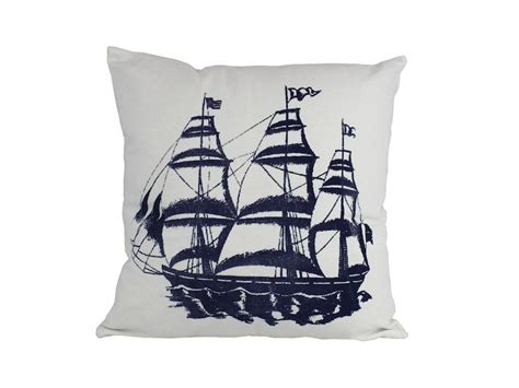 Nautical Pillows Wholesale by Buy Blue Ship Decorative Nautical Throw Pillow 16