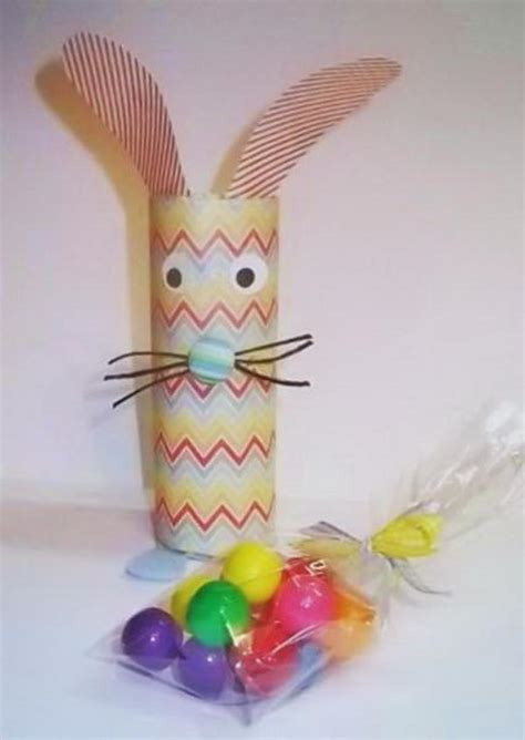 Toilet Paper Roll Bunny Craft - 60 animal themed toilet paper roll crafts hative