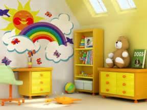 Rainbow themed nursery murals