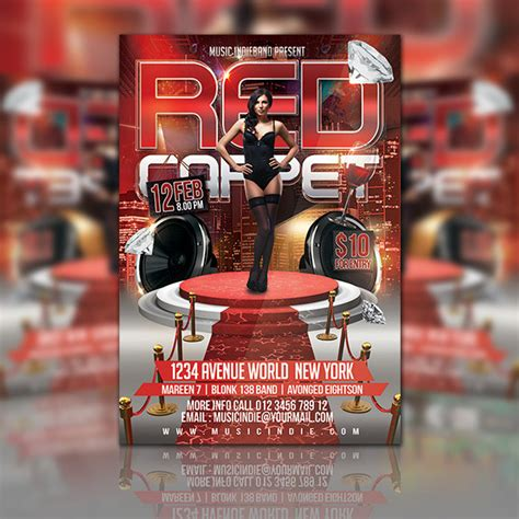 Free Red Carpet Event Flyer Template
