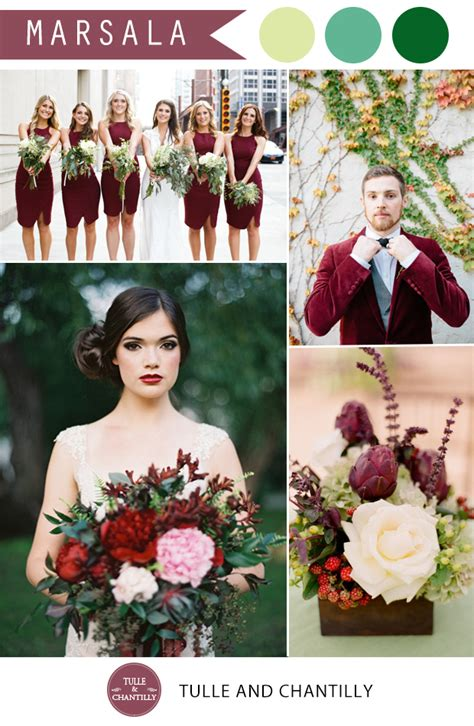 Color Combinations With Orange by Pantone Marsala Wedding Color Combo Ideas Color Of The