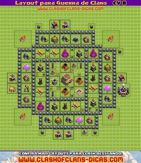 layout vila cv 8 guerra layouts de cv 8 para guerra de clans clash of clans dicas