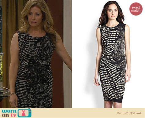 wornontv vanessas black  white crocodile print dress