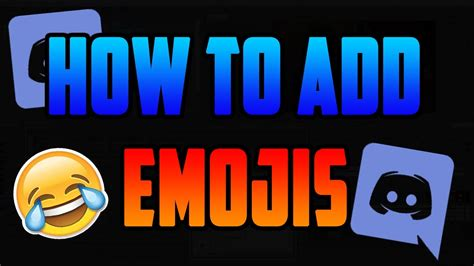 discord how to add emojis how to add emojis in discord server youtube