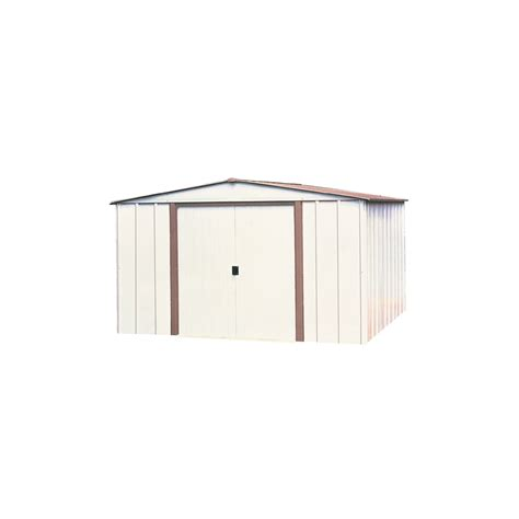 Galvanised Steel Shed by Shop Arrow Galvanized Steel Storage Shed Common 10 Ft X