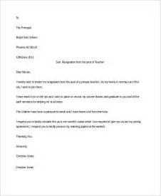 Resignation Letter Sle Primary School Sle Resignation Letter 6 Exles In Word