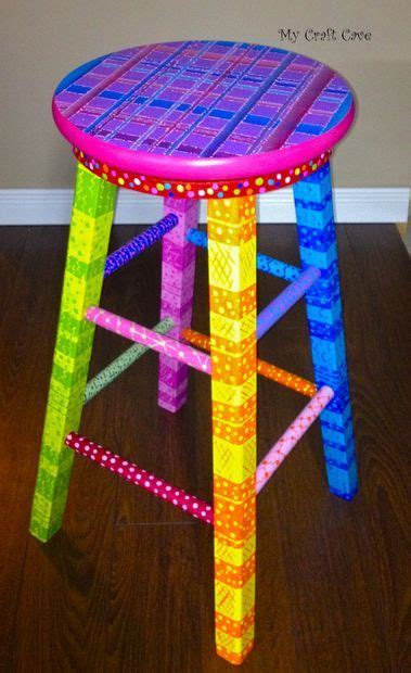 Turn Chair Into Bar Stool by Turn A Plain Stool Into A Swivel Stool Stools Paint