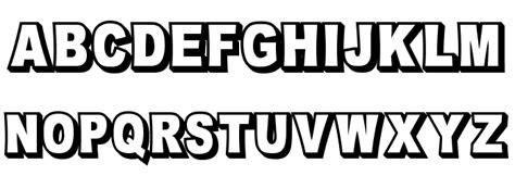 White Outline Font by Omniblack Outline Font