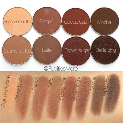 Lipstik Eternally Creme Brulee makeup eyeshadow swatches smoothie cr 232 me brul 233 e frapp 233 latte cocoa brown