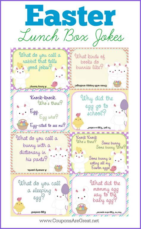 printable easter lunch box jokes printable easter lunch box notes using easter jokes for kids