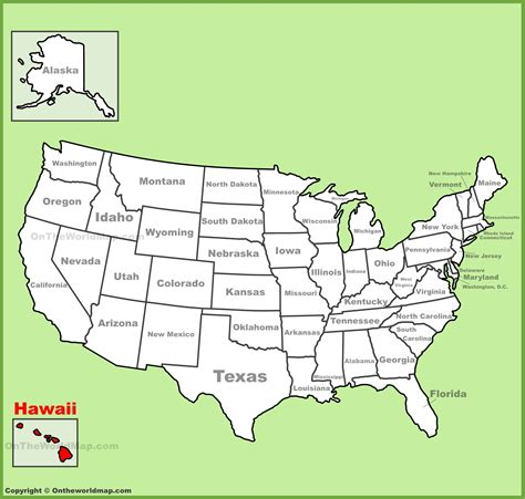 america map hawaii hawai location on the u s map