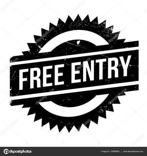 ingresso gratuito timbro di ingresso gratuito vettoriali stock