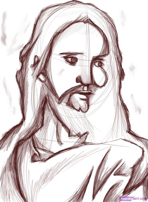 Easy To Draw Jesus by Jesus Sketches
