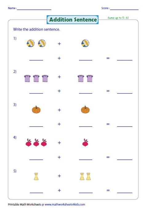 Picture Addition Worksheets by Addition With Pictures Worksheets