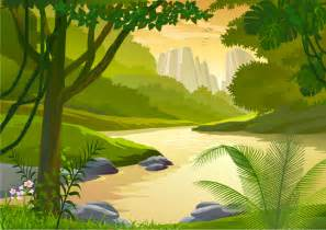 forest creek free vector graphic download