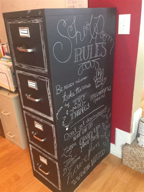 Chalk Paint On Metal Filing Cabinet Rev Filing Cabinets With Chalk Paint For The Home Pinterest