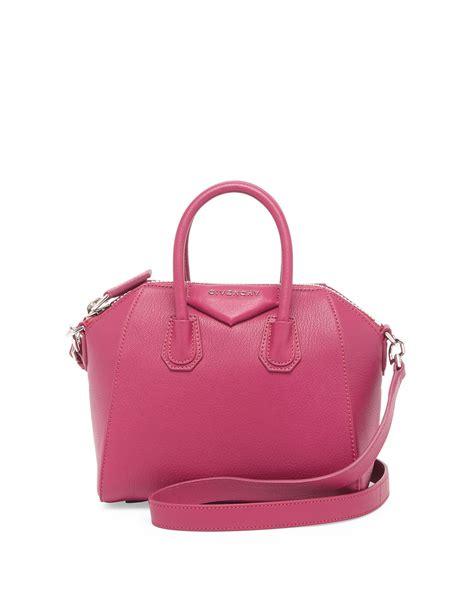 Givency Antigona Metal 7531 7 givenchy antigona mini leather satchel bag in purple lyst