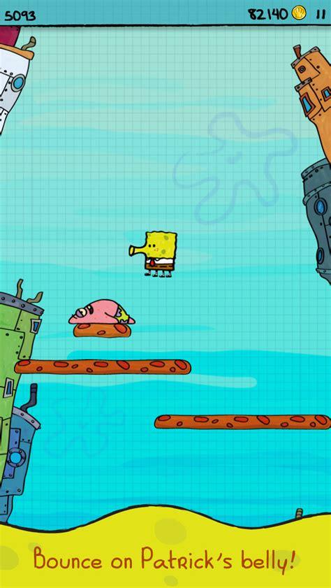 doodle jump spongebob nickelodeon releases a new doodle jump spongebob