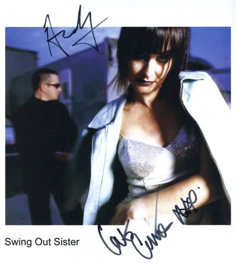 the swing out sister swing out sister signed photo print ltd certificate 1