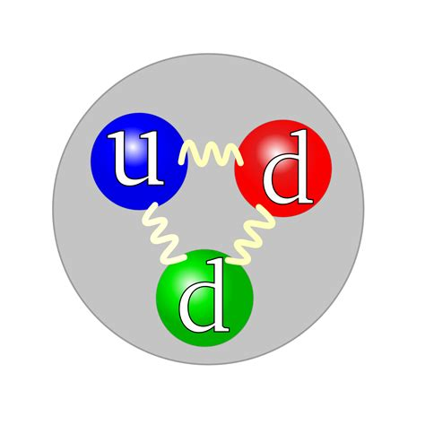quarks found in protons and neutrons quark structure neutron svg