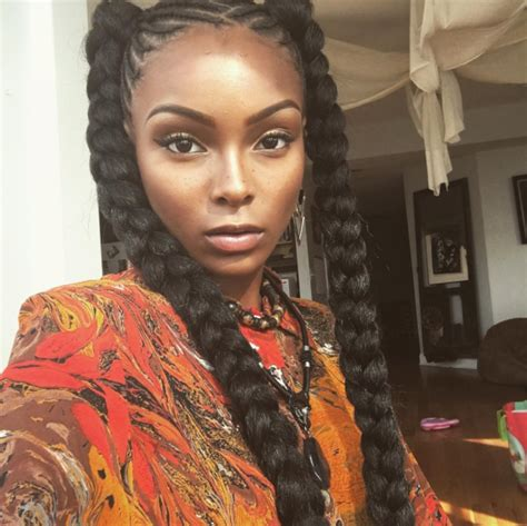 cornrow hairstyles for black women with part in the middle braided hairstyle ideas inspiration for black women