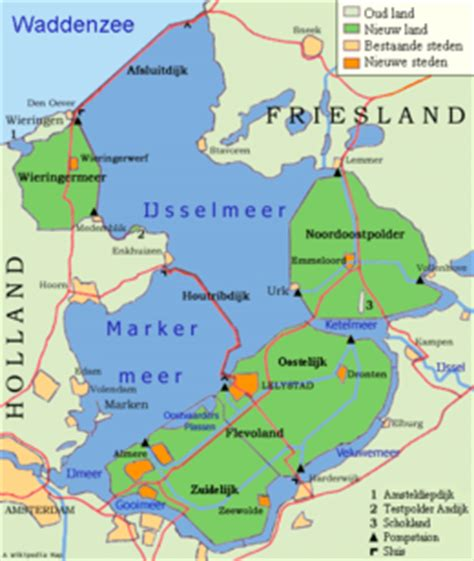 map ijsselmeer netherlands ijsselmeer