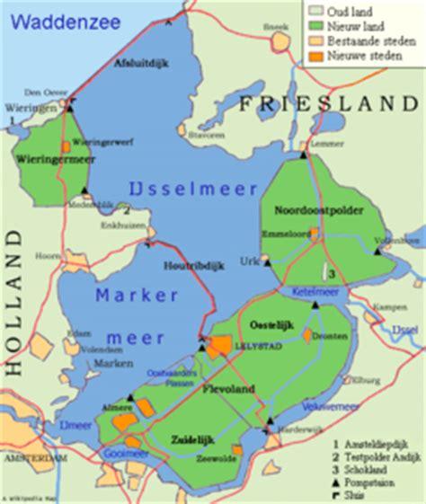 netherlands dikes map ijsselmeer