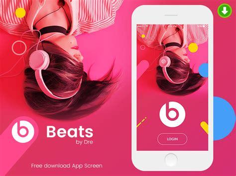 beats mobile mobile app design beats by dre apemockups