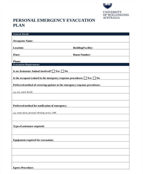 100 emergency evacuation template house plan fire